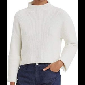 Kenneth Cole Wide Cuff Mock Neck Sweater
